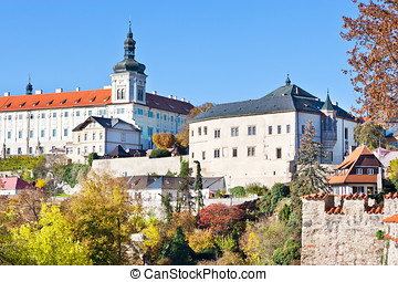 gothic Castle Museum of silver, Central Bohemia, Kutna Hora,...