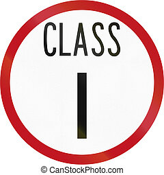 New Zealand road sign RH-1 - Road class I
