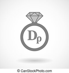 Isolated vector ring icon with a drachma currency sign -...
