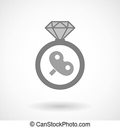 Isolated vector ring icon with - Illustration of an isolated...