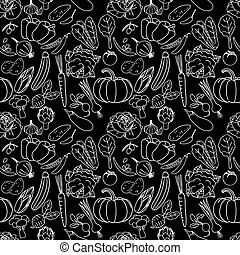 vegetable white stripe and seamless - vegetable drawing with...