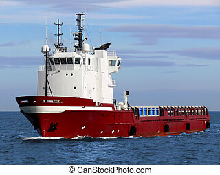 Supply Vessel D1 - Offshore oil and gas platform supply...