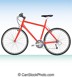 Mountain bike bicycle Illustration Vector details