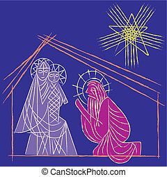 Illustration vector Star of Bethlehem Nativity