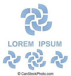 Light blue business logo design template set - Light blue...