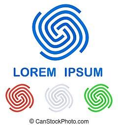 Corporate logo design template set