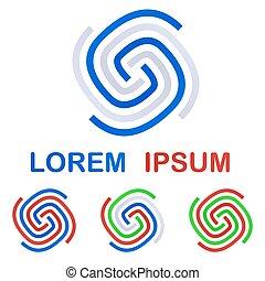 Company logo symbol design template set