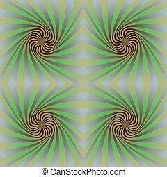 Seamless colorful psychedelic spiral pattern background...