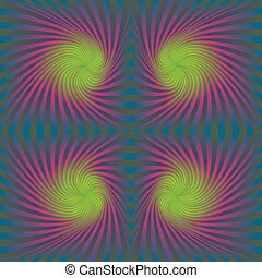 Seamless colorful psychedelic spiral pattern design...