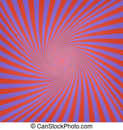 Blue red abstract spiral background design - Blue and red...