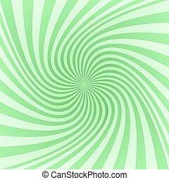 Green spiral pattern background