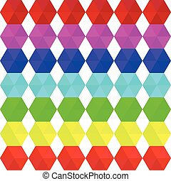 Colorful geometric seamless pattern rainbow colors -...
