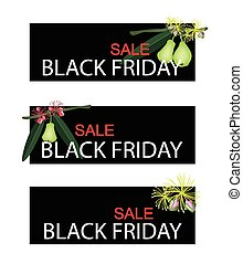 Green Water Apple on Black Friday Sale Banner - Illustration...