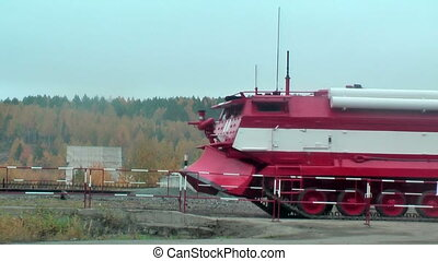 Special fire fighting vehicle SPM in motion