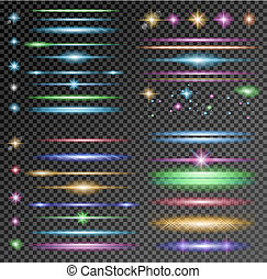 Vector Sparkle Collection with a lot of different Shapes:...