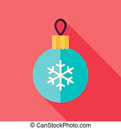 Vector Flat Design Decorative Chris - Decorative Christmas...