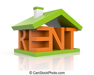 For rent - Business concept. Isolated on white