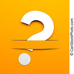 Question - Conceptual image Sign and symbols