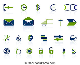 Complete set of icons. - Complete set of different icons on...