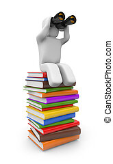 In the search for knowledge - Education concept. Isolated on...