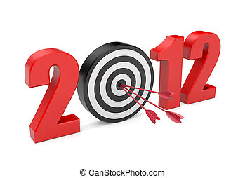 Success in new year Image contain clipping path