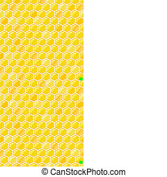 Seamless Pattern with Honeycombs - Yellow Seamless Pattern...