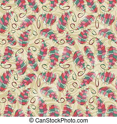 Colorful Leaf Seamless Pattern - Bright Colorful Leaf...