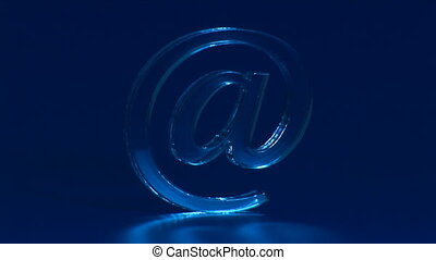 Symbol e-mail - The Symbol e-mail on turn blue the...