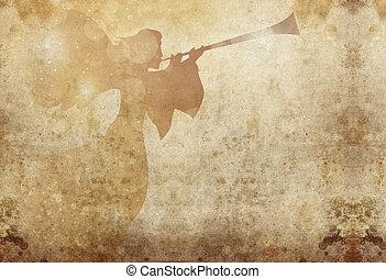 herald angel grunge - herald angel on grunge background