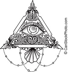 Eye Pyramid Black