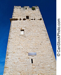 Ancient Red Stones Tower of Giovinazzo. Apulia. - This is an...