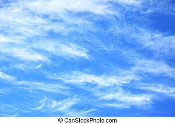 Blue sky with light clouds -  may be used as background