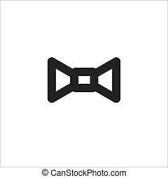 black bow tie vector line icon
