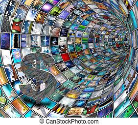 Dollar Symbol in TV Tunnel