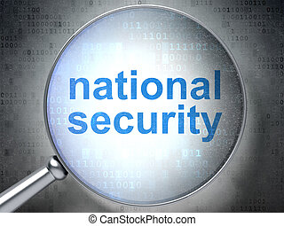 Privacy concept: National Security with optical glass