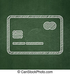 Finance concept: Credit Card on chalkboard background