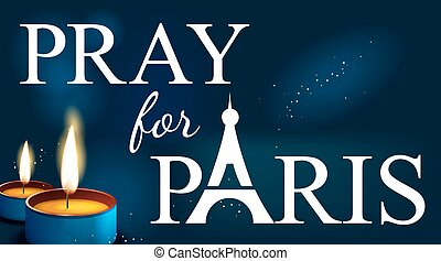 pray for paris , Abstract Background ,Silhouette of Eiffel...