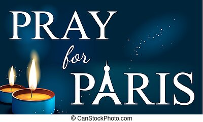 pray for paris, Abstract Background Silhouette of Eiffel...