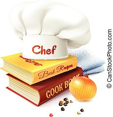 Chef And Cooking Concept - Chef and cooking realistic...