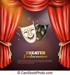 Theatre Background Illustration - Theatre performance...