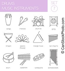 Musical instruments. Drums