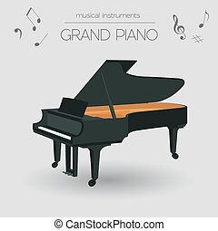 Musical instruments Grand piano - Musical instruments...