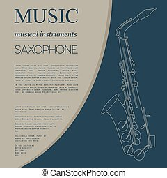 Musical instruments Saxophone - Musical instruments graphic...