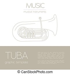 Musical instruments Tuba - Musical instruments graphic...