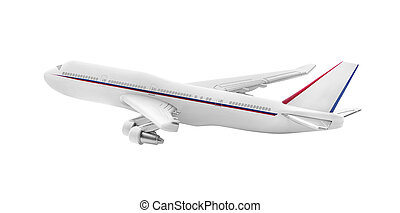 Plane model isolated. - Airplane model isolated on a white...