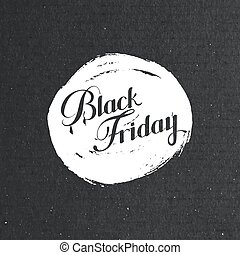 Black Friday Sale label on the grunge ink stain Promotional...