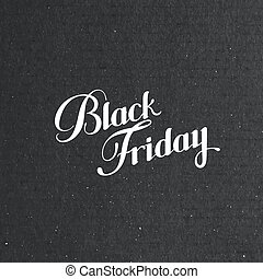 Black Friday Sale label on the cardboard texture Promotional...