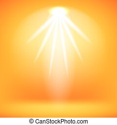 Stage Spotlight Background - Spotlight Isolated on Yellow...