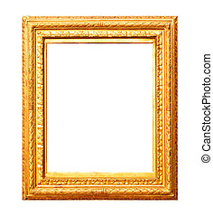 Old gold painting frame