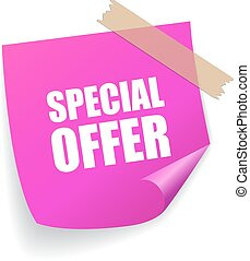 Special offer square sticker